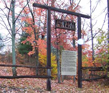 Photo of the cemetery gate