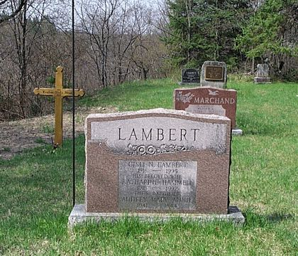 LAMBERT GISLI N. LAMBERT 1916 - 1995 HIS BELOVED WIFE KATHERINE HAMMELL 1918 - 1992 THEIR DAUGHTER AUDREY MARY ANNIE 1941 - 1944