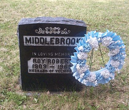 MIDDLEBROOK IN LOVING MEMORY OF ROY ROBERT 1909 - 1969 HUSBAND OF VELMOR