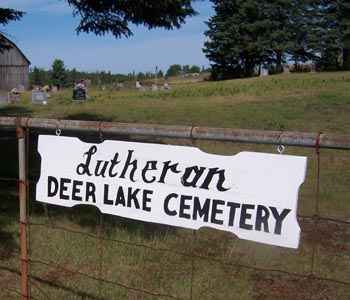 Photo of the cemetery sign